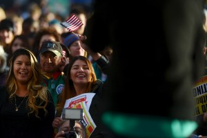 """Latino leaders and immigration reform supporters gather at Farrand Field on the campus of the University of Colorado to launch """"My Country, My Vote,"""" a 12-month voter registration campaign to mobilize Colorado's Latino, immigrant and allied voters October 28, 2015."""