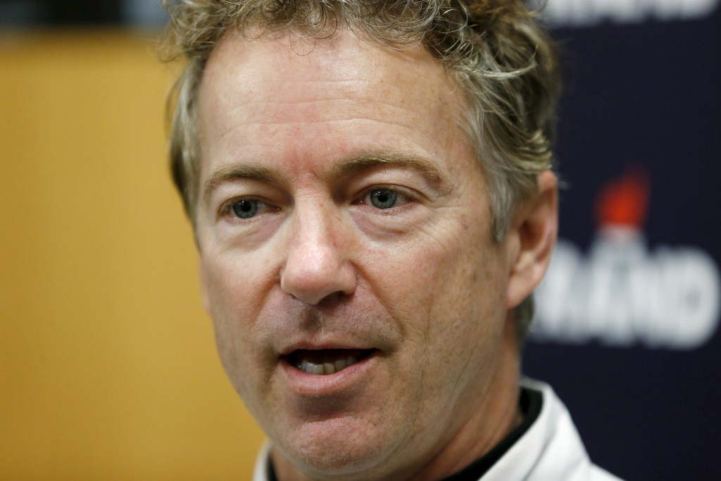 Republican presidential candidate Senator Rand Paul (R-TX) speaks at Crossroads Shooting Sports in Johnston, Iowa, January 17, 2016. Photo by Aaron P. Bernstein/Reuters