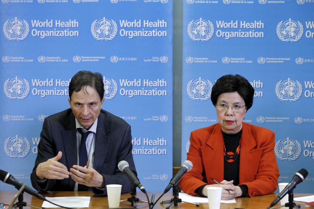 Professor David L. Heymann (L), Chair of the Emergency Committee, and World Health Organization (WHO) Director-General Margaret Chan hold a news conference after the first meeting of the International Health Regulations (IHR) Emergency Committee concerning the Zika virus and observed increase in neurological disorders and neonatal malformations in Geneva, Switzerland, February 1, 2016. Photo by Pierre Albouy/REUTERS
