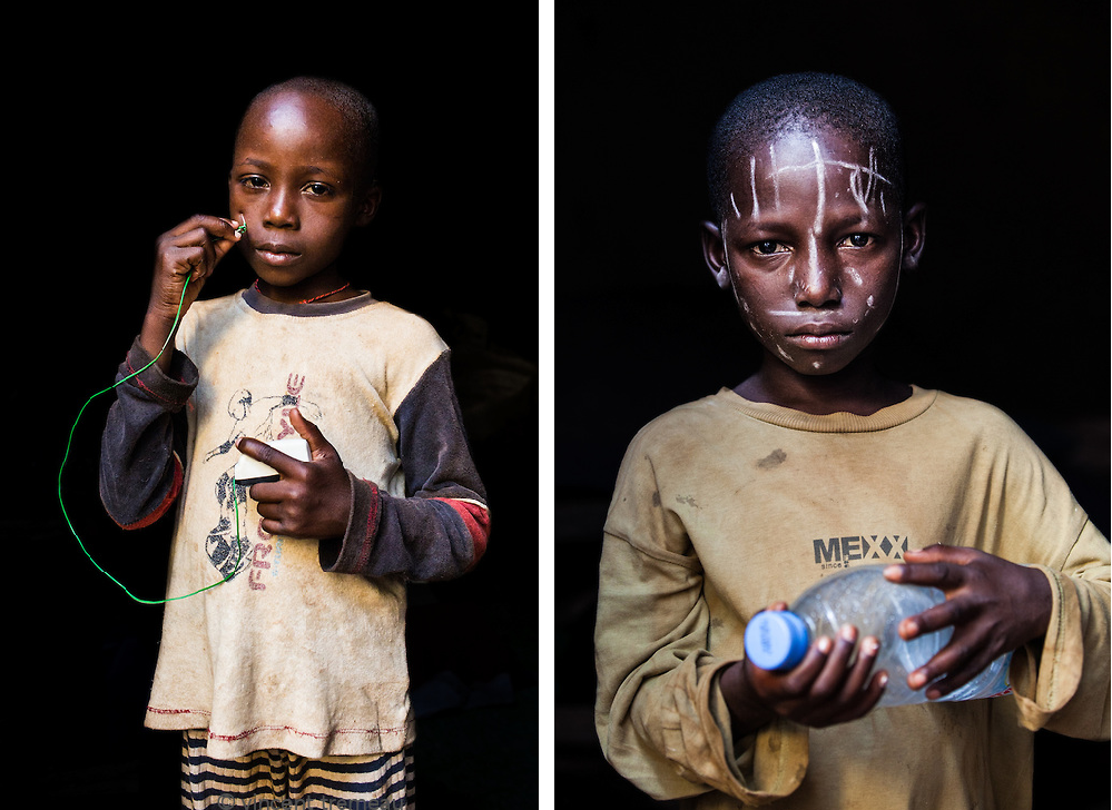 "Left (Central African Republic): ""Electrician."" Right (Central African Republic): ""Soldier."" Photos and caption by Vincent Tremeau"