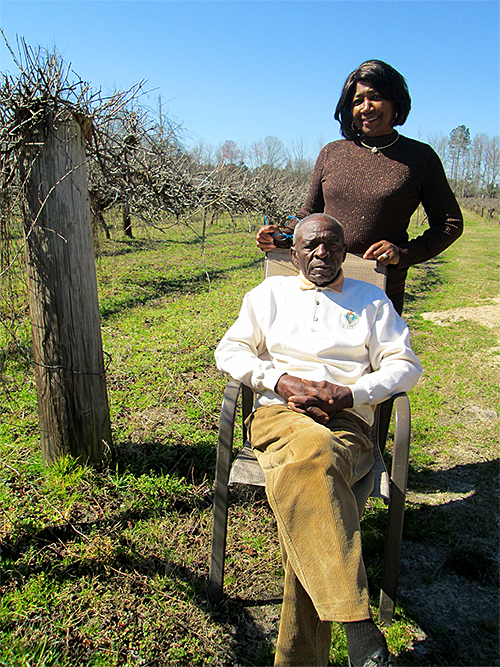 David Williams and Cassandra Rush on their family farm. Photo by Daniel Bush