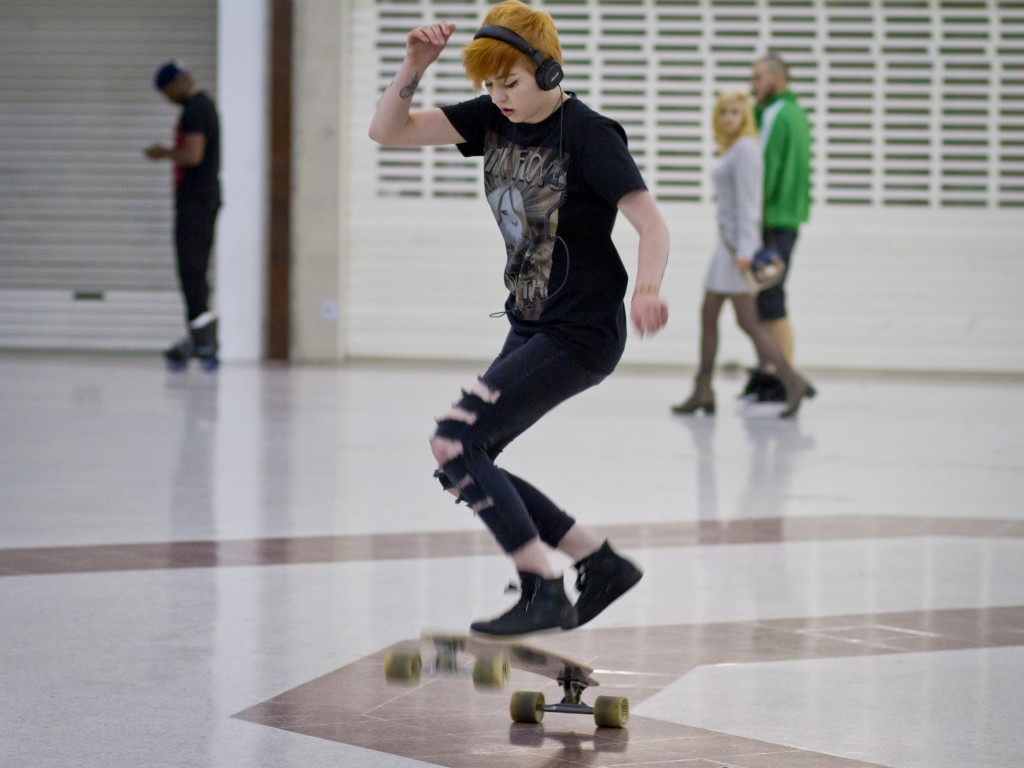 Some of the skaters told Silva that Stratford Centre was where they came to relax and unwind with friends. Photo by Carla da Silva