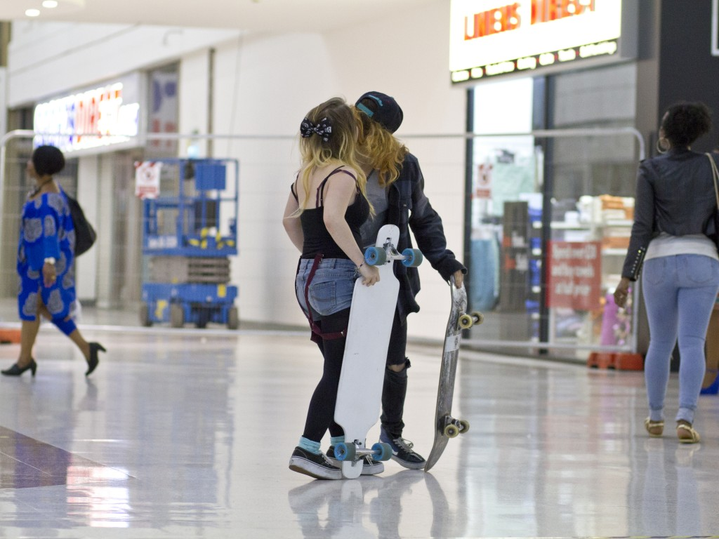 A regular skateboarder said he would never have met his girlfriend if he had not started coming to the center a year ago. Photo by Carla da Silva