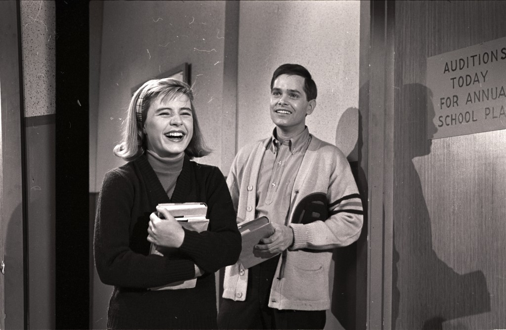 "Patty Duke and Eddie Applegate appeared in an episode of ""The Patty Duke Show"" called ""The Actress"" on Nov. 27, 1963. Photo by ABC Photo Archives/ABC via Getty Images"