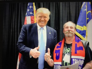 Pete Tilly with GOP front-runner Donald Trump at a recent campaign event. Photo courtesy of Pete Tilly.