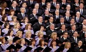 The Mormon Tabernacle Choir sings at the first session of the The Church of Jesus Christ of Latter-day Saints' 185th Annual General Conference in Salt Lake City, Utah April 4, 2015. Photo by George Frey/Reuters