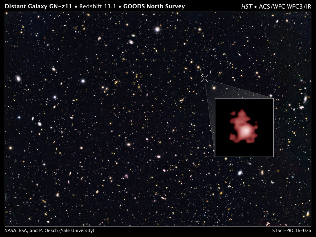 Hubble breaks distance record by capturing universe's early galaxy