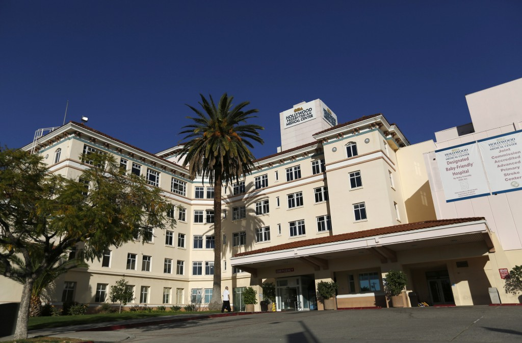Did human error lead to a cyber attack in February that crippled the electronic database at Hollywood Presbyterian Medical Center (pictured) for days, forcing doctors at the Los Angeles hospital to rely on telephones and fax machines to relay patient information.   Photo by Mario Anzuon/REUTERS