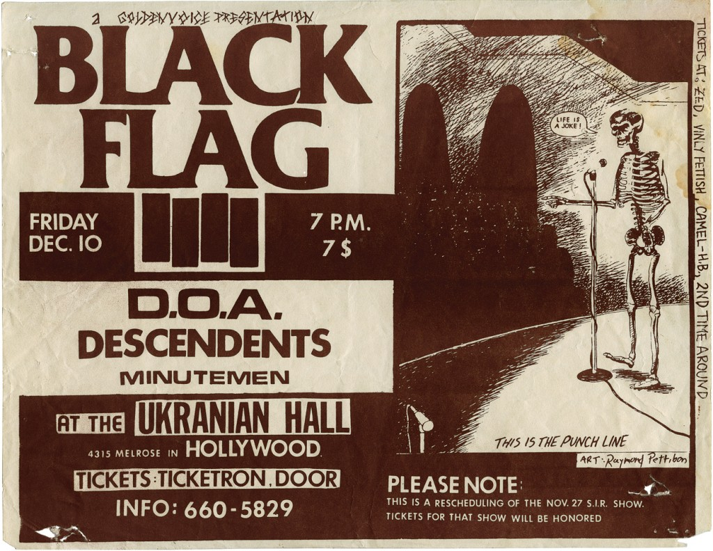 """Black Flag at the Ukranian Hall,"" 1982. Image courtesy of David Zwirner Books"