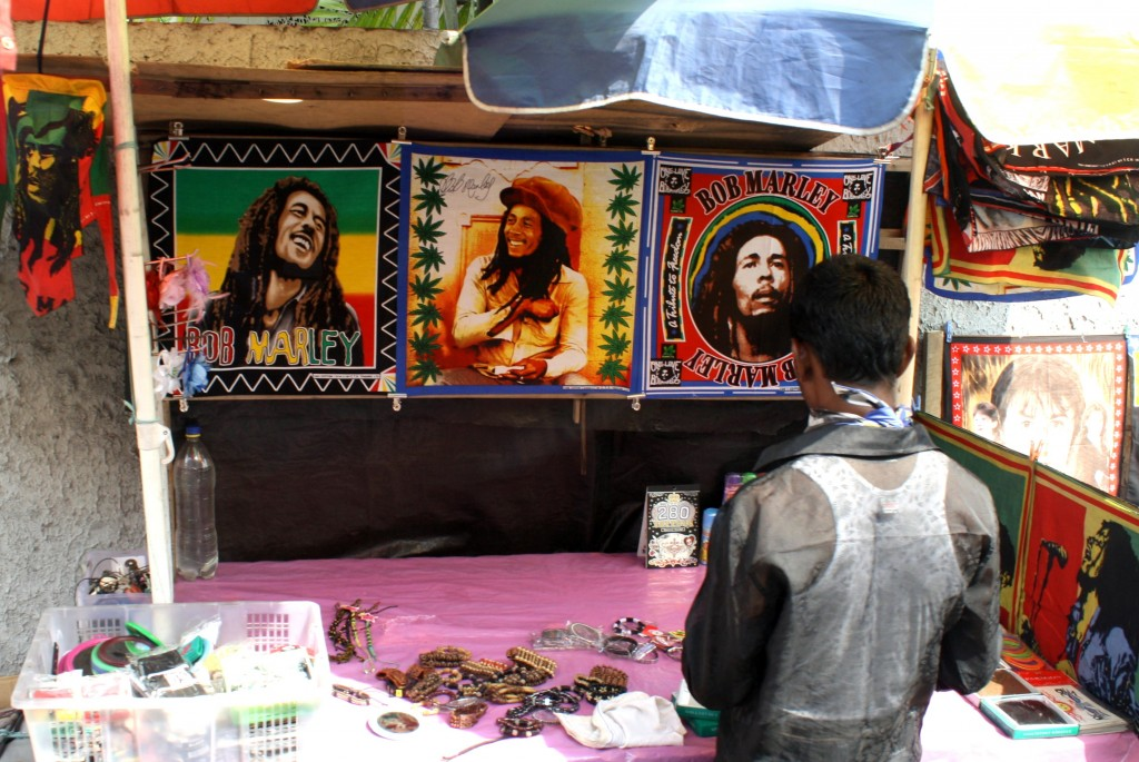 Bob Marley remains one of the richest celebrities in the world nearly 35 years after his death. His name and likeness can be found on just about anything, including merchandise at this store in Sri Lanka. Photo by Nimal Skandhakumar/Flickr