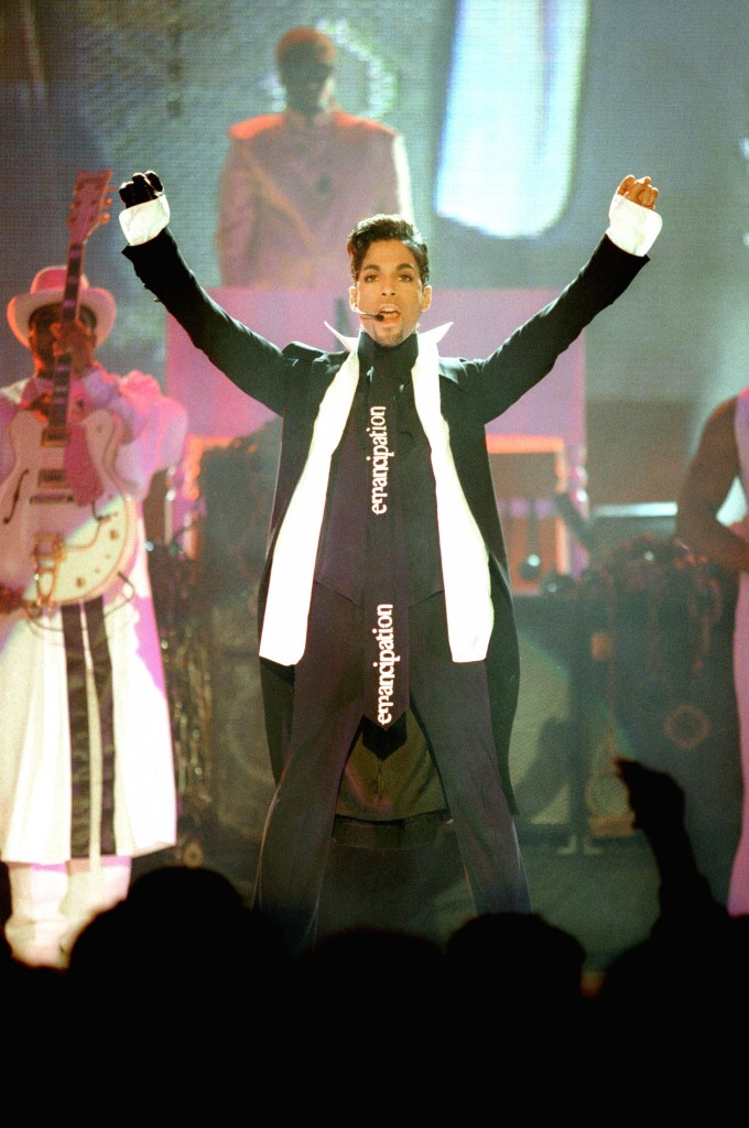 The artist formerly known as Prince performs at the Brit Awards, the UK's premier music awards at Earls Court in London February 24, 1997. Photo by Kieran Doherty/Reuters