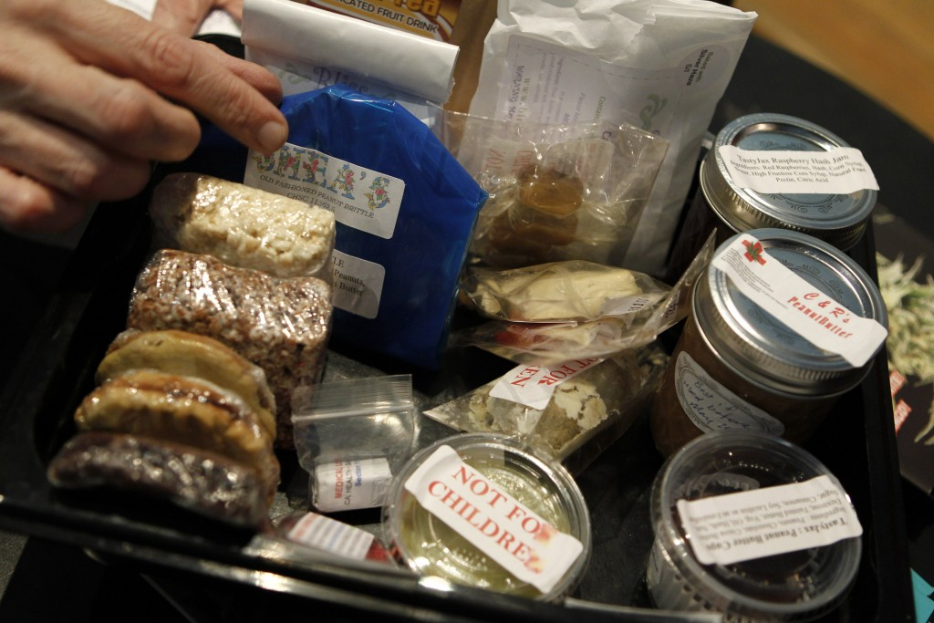 A variety of medical marijuana products are shown in a dispensary in Oakland, California. Photo by Robert Galbraith/Reuters