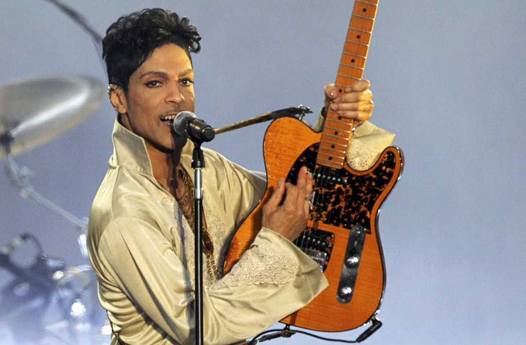 Prince performs in Britain at the Hop Farm Festival near Paddock Wood in 2011. Photo by Olivia Harris/Reuters