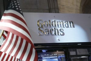 A view of the Goldman Sachs stall on the floor of the New York Stock Exchange in 2013. Photo by Brendan McDermid/Reuters