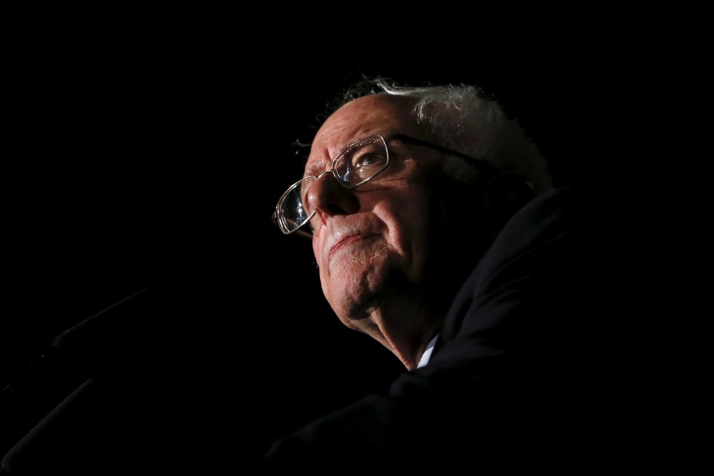 Bernie Sanders speaks to supporters during a 2016 campaign rally at Missouri State University in Springfield, Missouri. Photo by Shannon Stapleton/Reuters