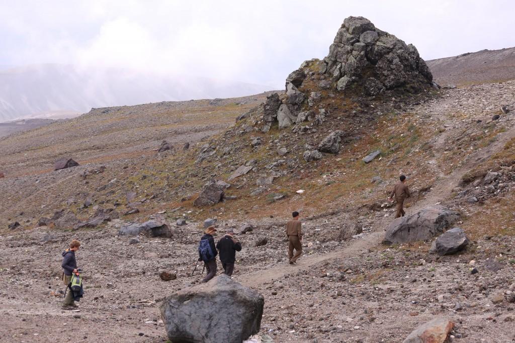 In the field on Mount Paektu. Photo by Kosima Weber Liu