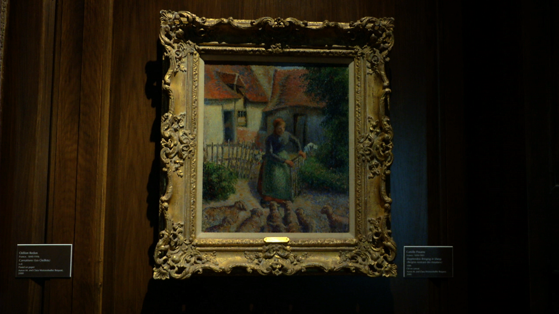 "Camille Pissaro's  ""Shepherdess Bringing in Sheep"" at University of Oklahoma Museum"