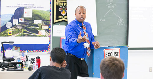 Demetrius Ball, classroom