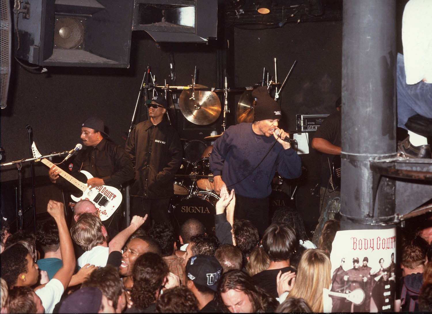 This photo of Body Count is an example of getting to know the size of the room, where you can and cannot shoot from, the size of the stage and the kinds of stage lighting. Photo by Leon Armour Jr./Visual Stimuli Studios