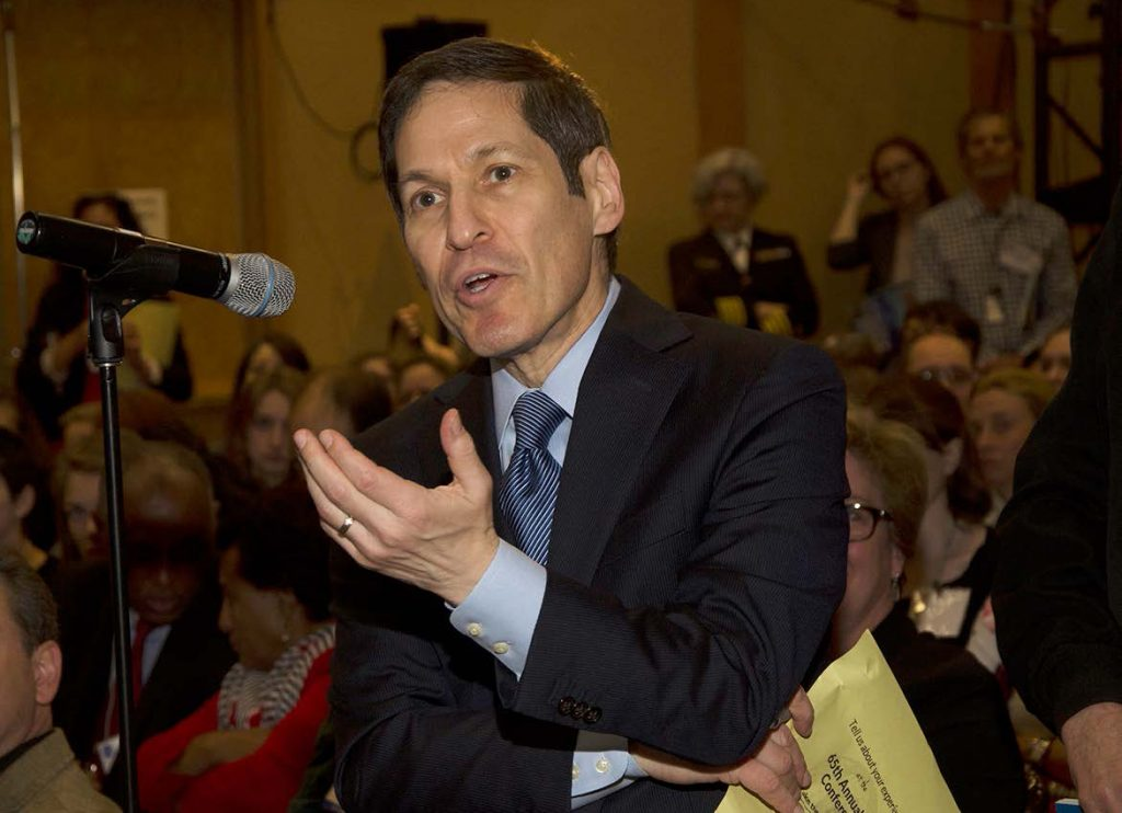 """Zika is unprecedented. It's unprecedented to have a mosquito-borne cause of fetal malformation,"" CDC director Tom Frieden said at the 65th annual EIS conference. Frieden spent two years in the EIS program in the early 1990s. Photo courtesy of the Centers for Disease Control and Prevention"
