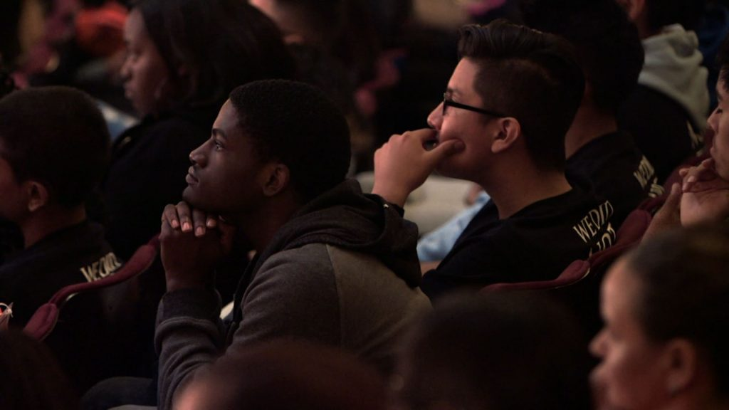 """More than 1,300 New York City students were able to attend """"Hamilton"""" on April 13, 2016. PBS NewsHour"""