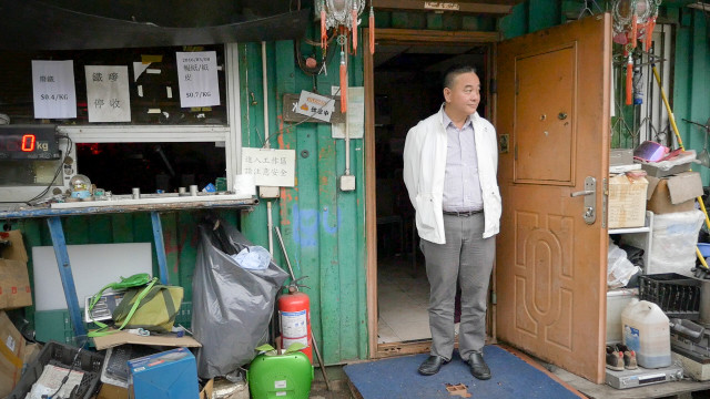 Jackson Lau, head of Hong Kong's recycling business association, said junkyards that import foreign e-waste often dump the components they don't sell. Photo by Katie Campbell, KCTS9/EarthFix