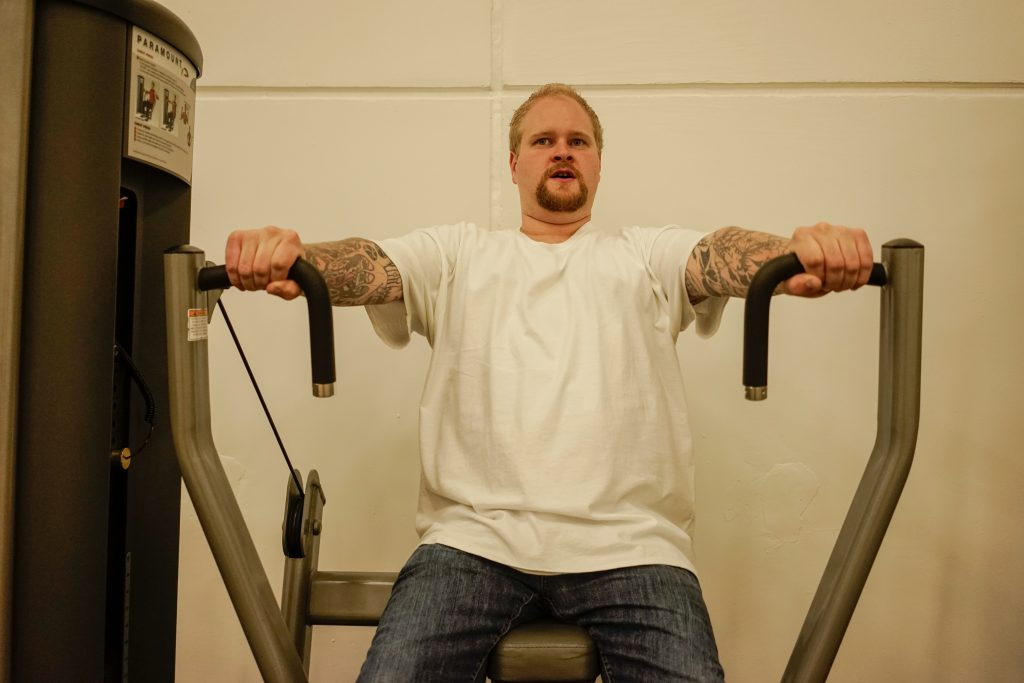 Craig Bolte, 29, is one of 67 men who are being held in Minnesota's Sex Offender Program for crimes they committed as juveniles. Photo by William Brangham.
