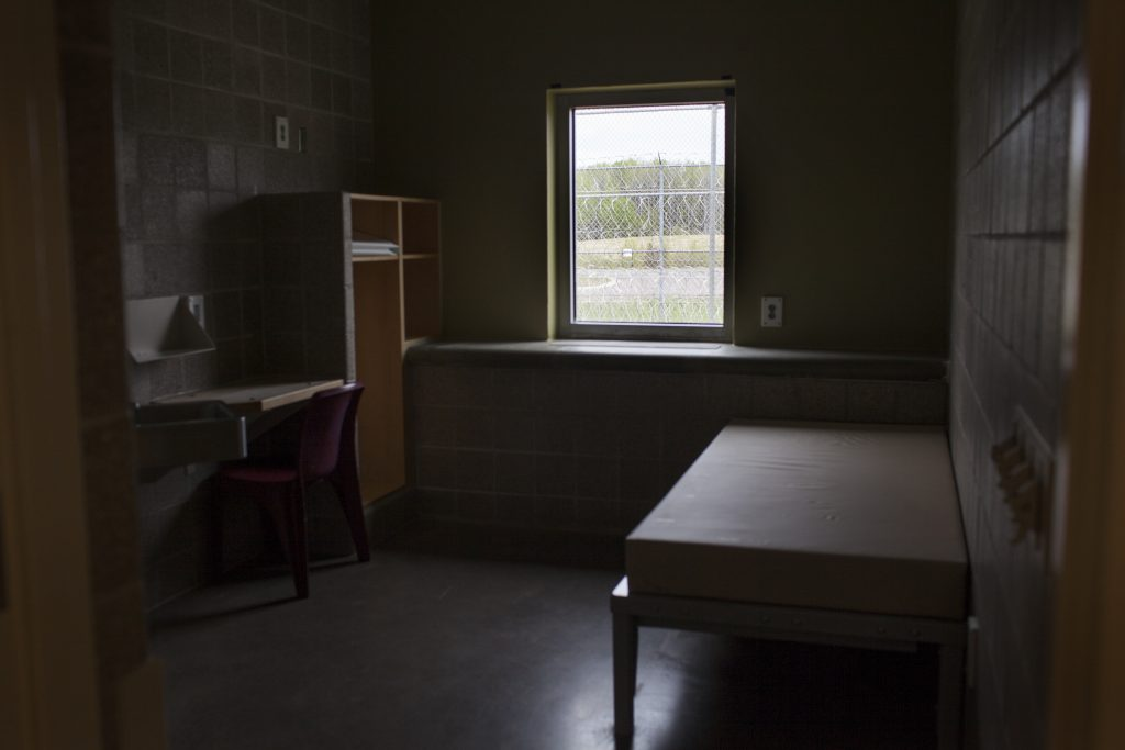 An empty cell inside Minnesota's Sex Offender Program in Moose Lake, MN. Photo by Abbey Oldham.