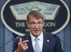 File photo of Secretary of Defense Ashton Carter by Saul Loeb/AFP/Getty Images