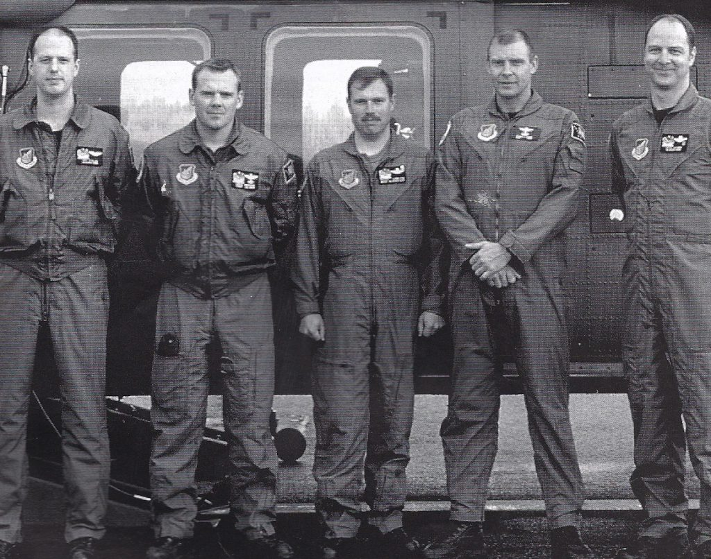 Gregory Hopkins, second from left, 1998.