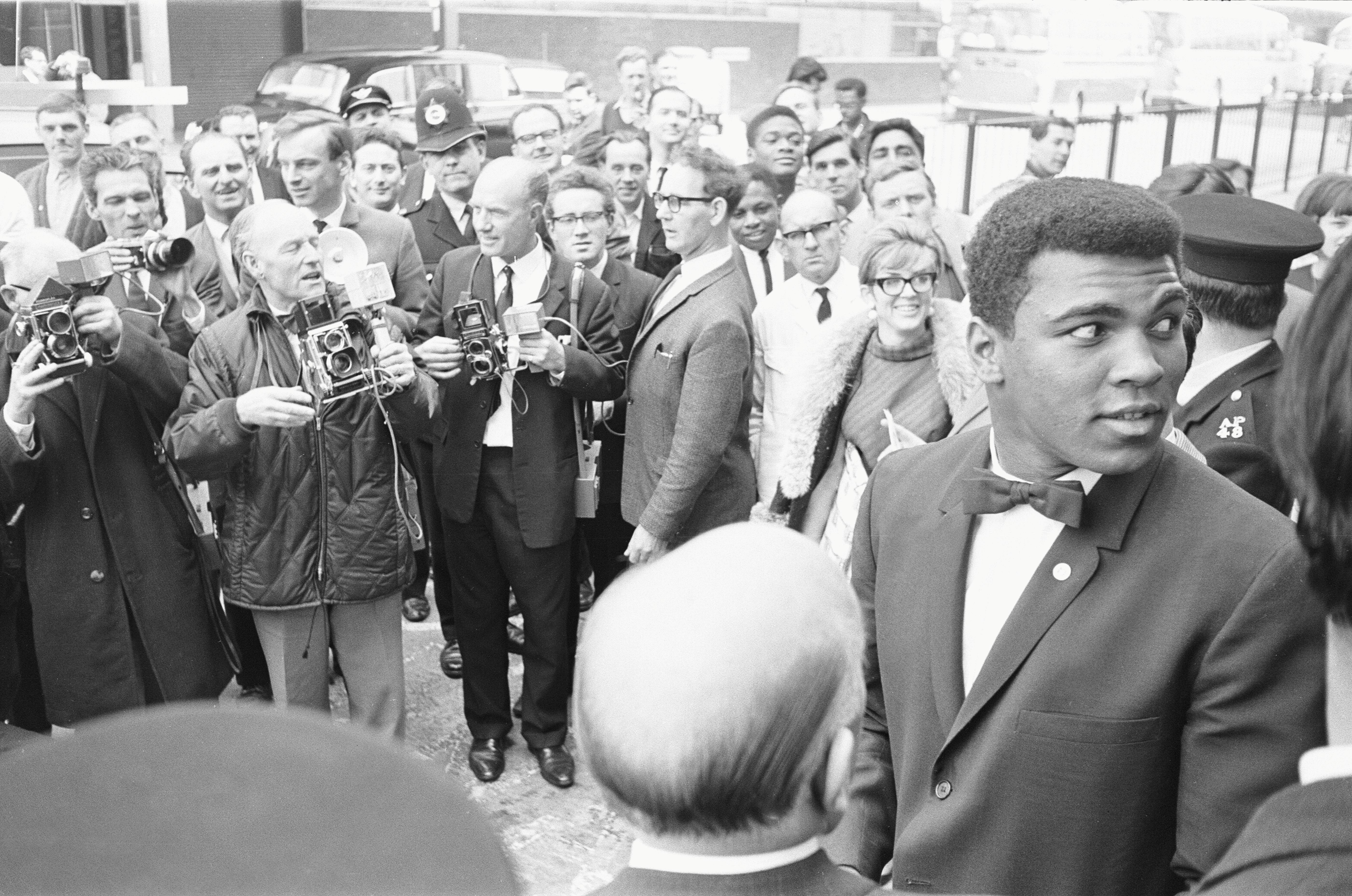 Muhammad Ali, formerly Cassius Clay, is pictured at his West End Hotel in London before his fight with British heavyweight Henry Cooper on May 9. 1966. File photo by Action Images/MSI via Reuters
