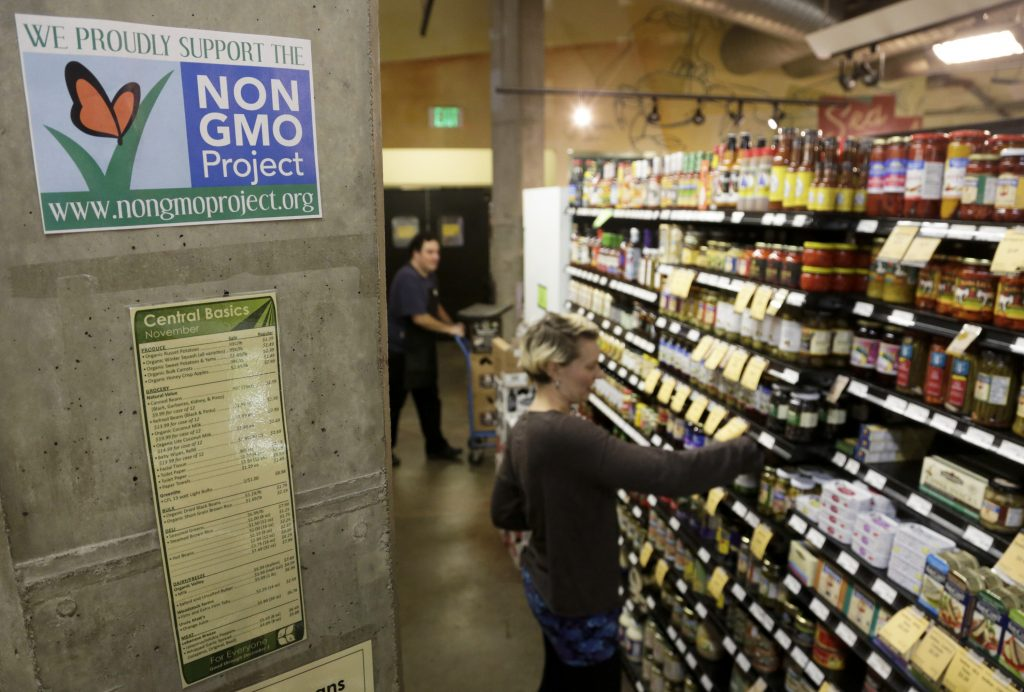 In July, Congress approved legislation that required most food packages to have labels that indicated whether the food contains genetically modified ingredients Photo by Jason Redmond/Reuters