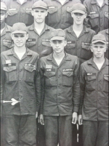 Jon Steven Russo,center, in basic training. When he served, he was known as Jon Steven Kloos, 1973.
