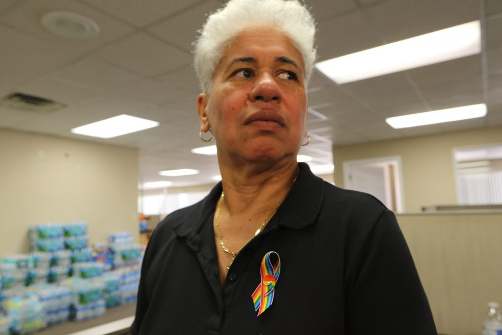 """As vice president of Misión Boricua, """"Puerto Rican Mission,"""" Rosado wants to make sure what she calls """"cultural competency"""" isn't lost in the aftermath of tragedy. Photo by Kenya Downs/PBS NewsHour"""