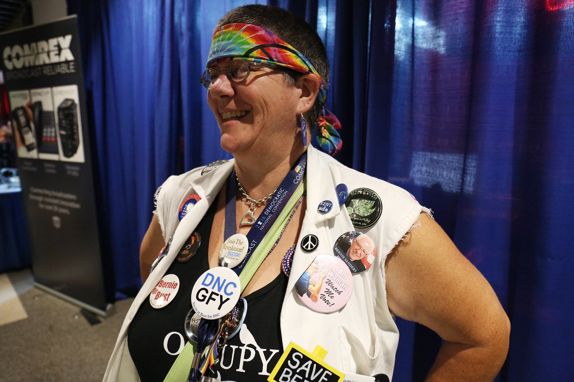 Victoria Bard, 50, is a Colorado delegate, a massage therapist and a Sanders supporter. Photo by Abbey Oldham