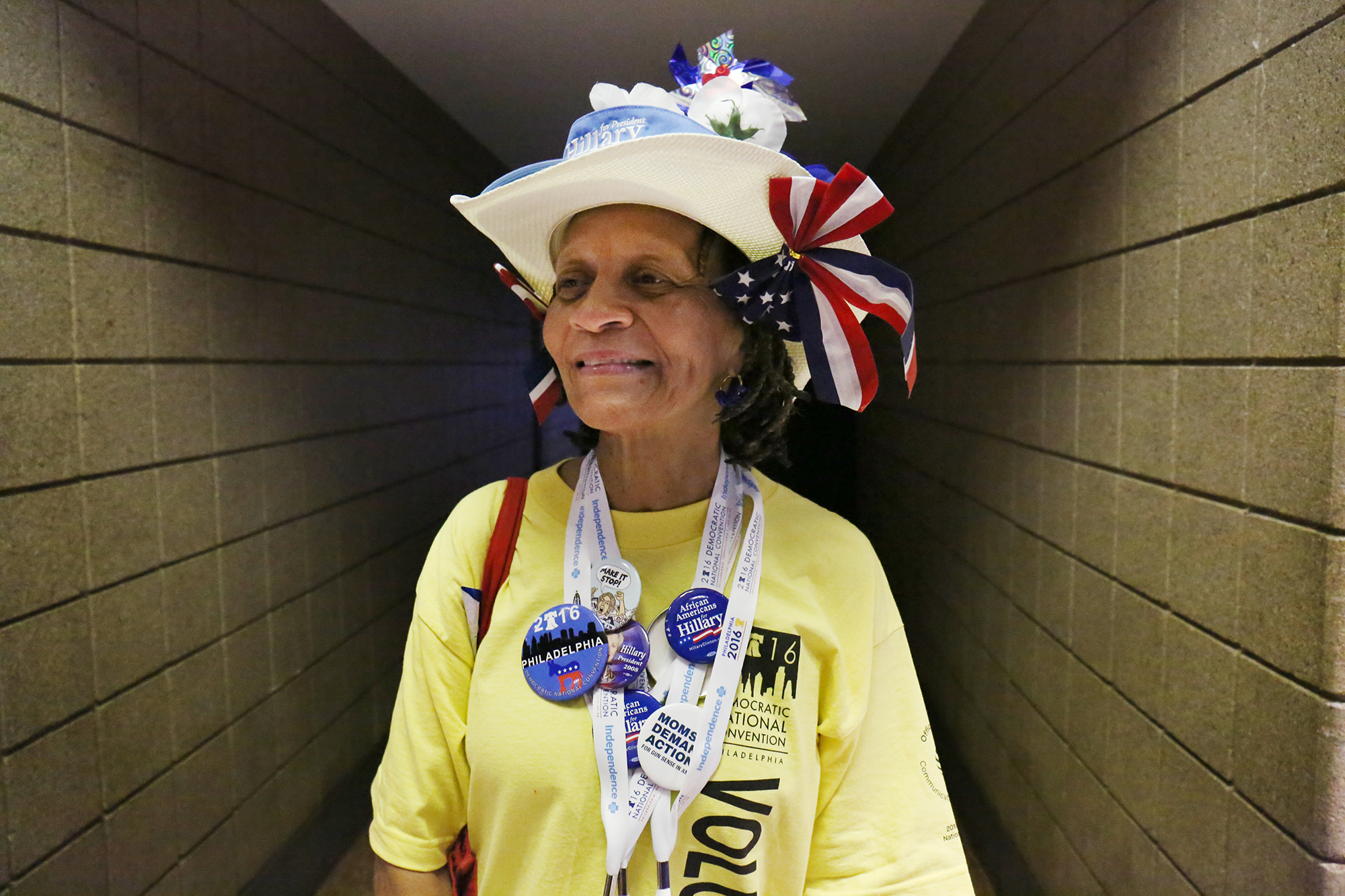 Bo Floyd, 62, is a schoolteacher, a Democratic National Convention volunteer and a Hillary Clinton supporter from Birmingham, Alabama. Photo by Abbey Oldham