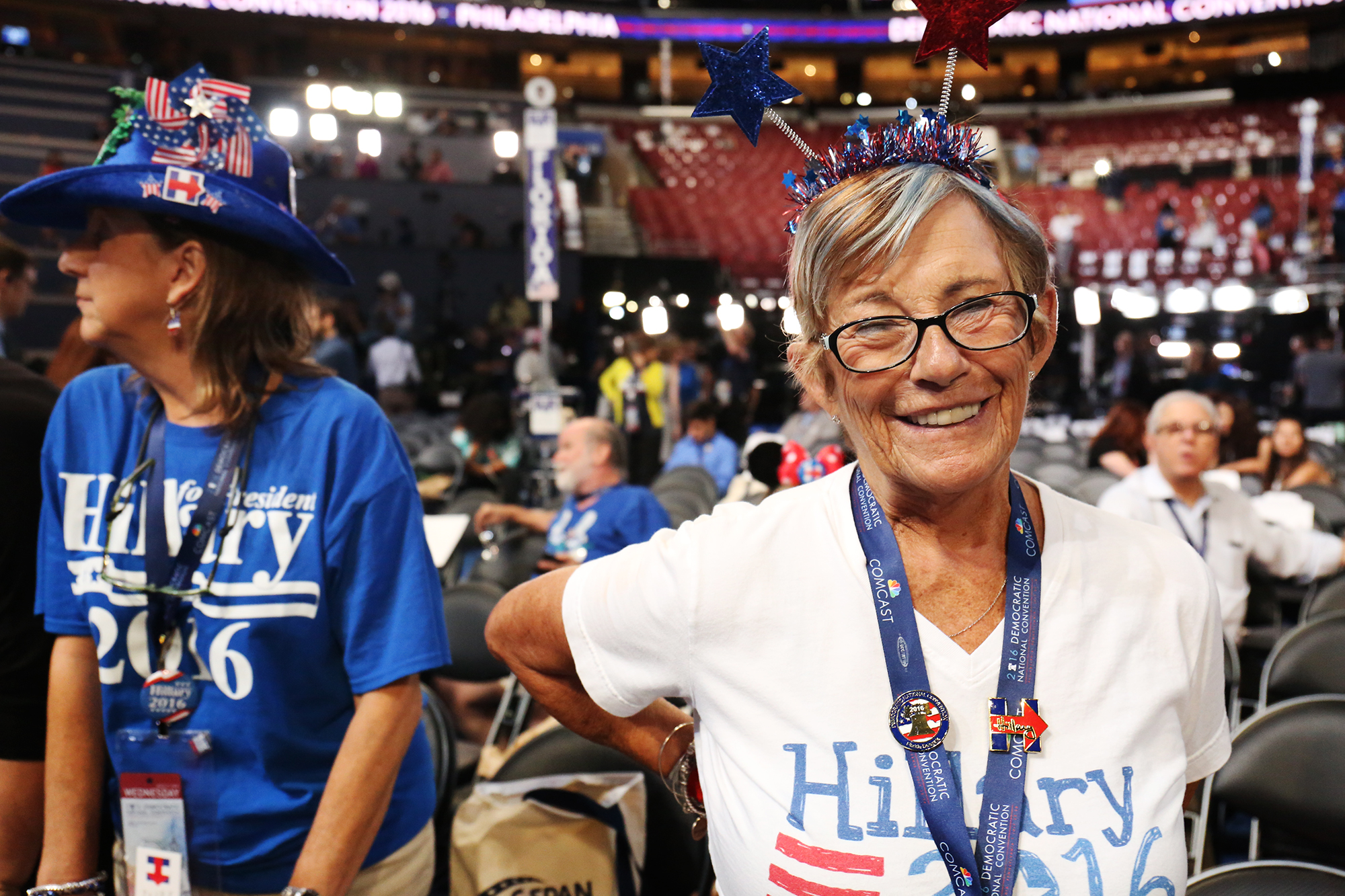 Wanda Francis, 70, is a Florida delegate, a retired American Express employee and a Hillary supporter. Photo by Abbey Oldham