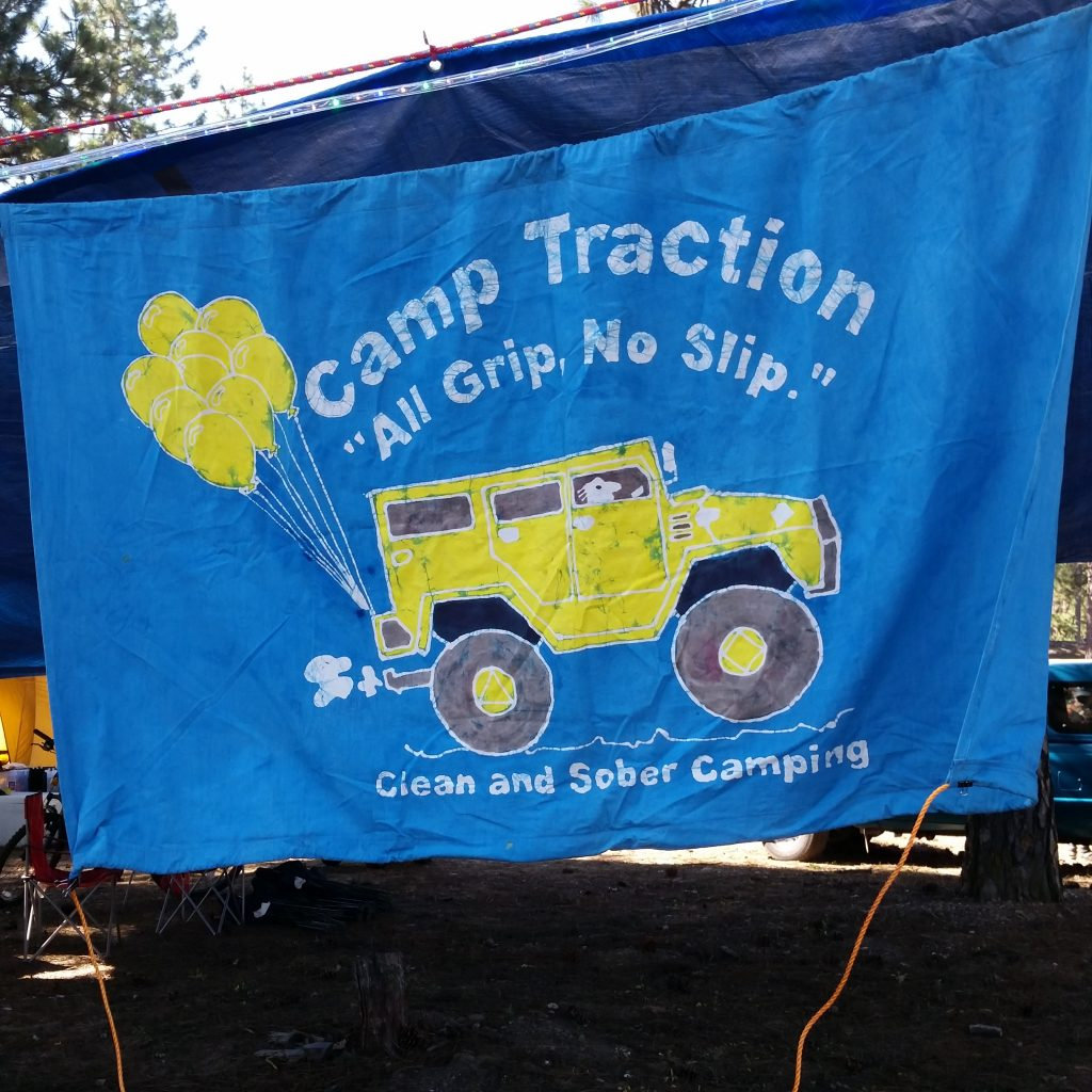 Camp Traction's flag. Photo courtesy of Camp Traction