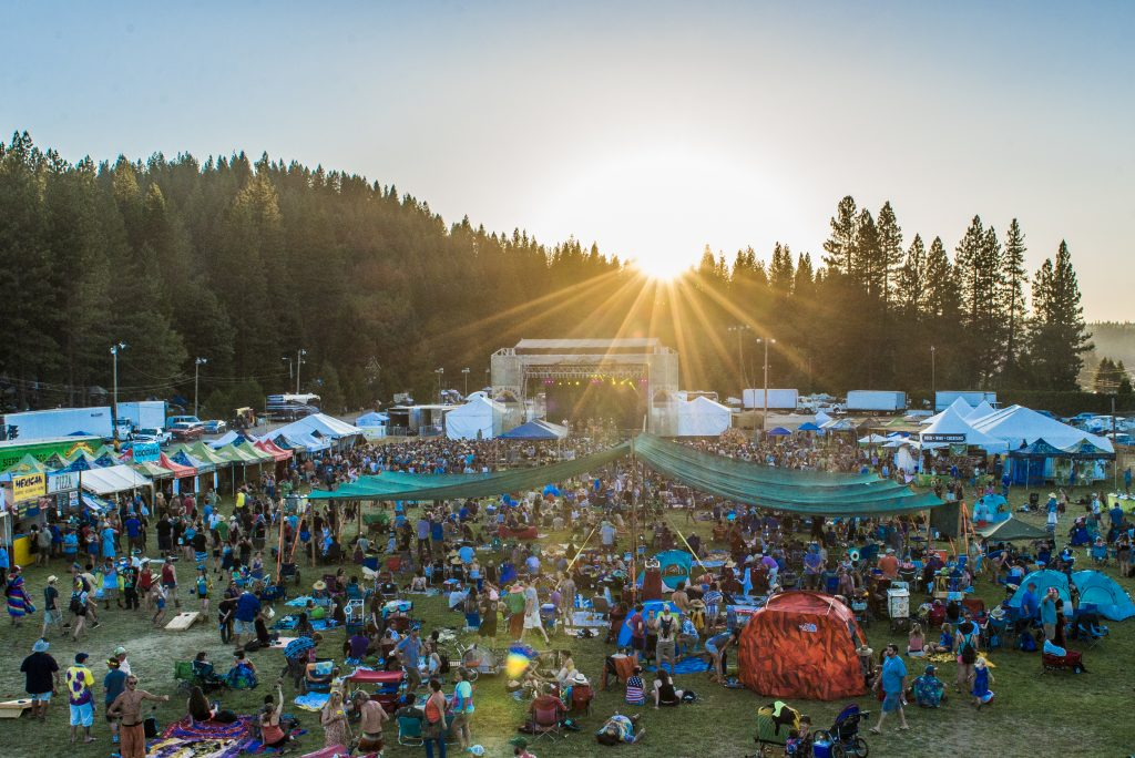 Showtime at dusk during the 26th annual High Sierra Music Festival. Photo by Stuart Levine/High Sierra