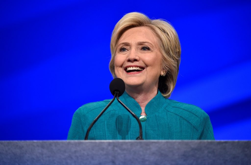 hillary clinton makes history tonight against high stakes pbs newshour