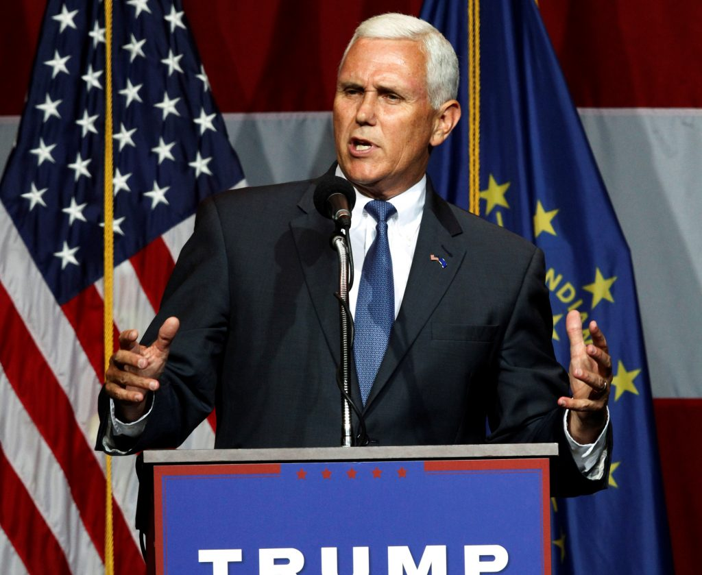 File photo of Mike Pence by John Sommers II/Reuters