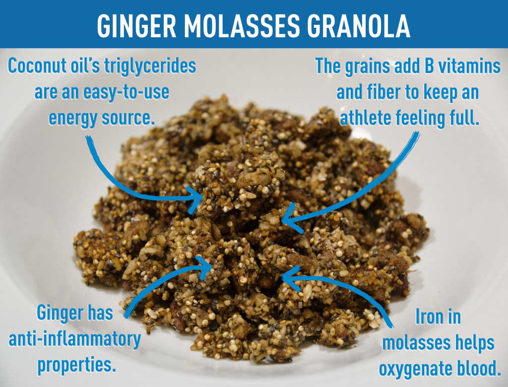 Team USA suggests this Ginger Molasses Granola as a great breakfast option. (Credit: Leigh Anne Tiffany / PBS NewsHour)