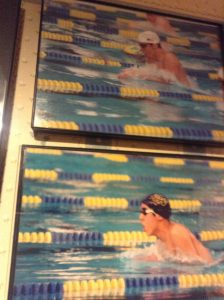 One of the author's father's attempts to put him and Phelps swimming side-by-side. Photo courtesy Jason Villemez