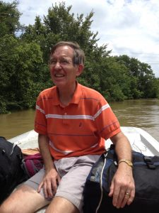 The author's father is evacuated from his Baton Rouge neighborhood on Sunday, August 14th.