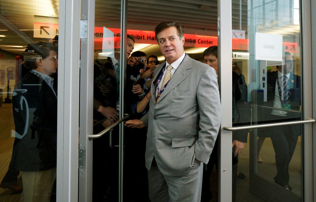 Paul Manafort, former campaign manager to Republican Presidential Candidate Donald Trump, has denied working on behalf of Russia.  Photo by Rick Wilking/Reuters