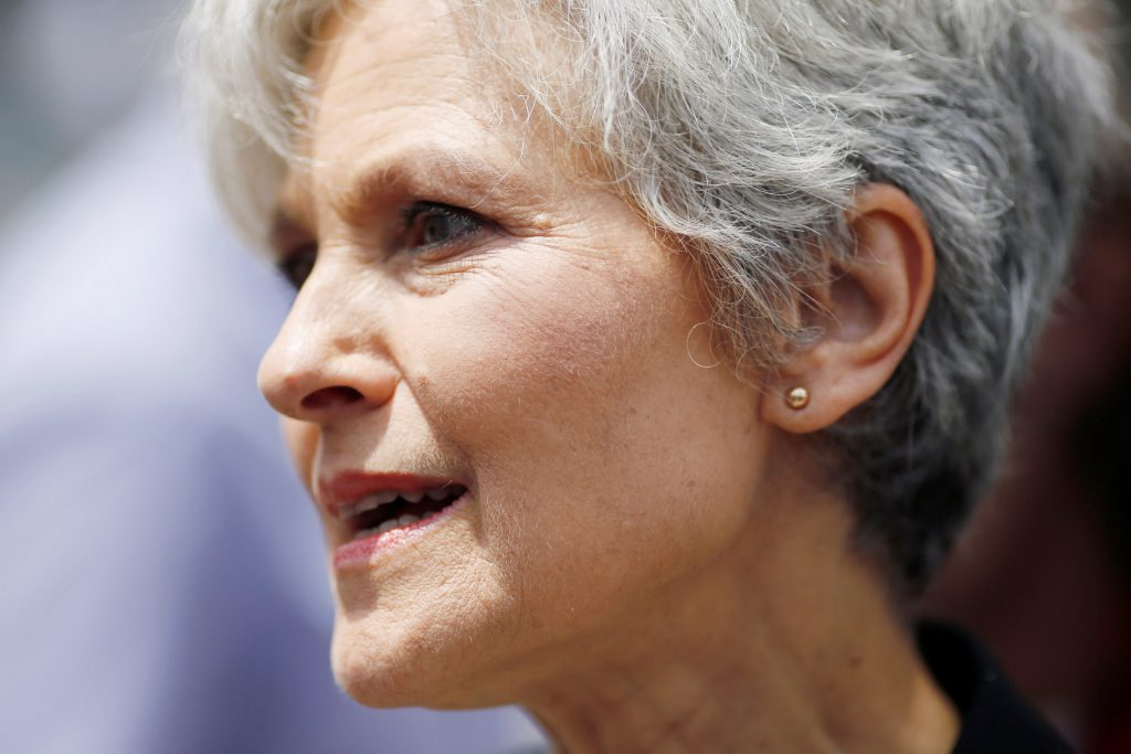 Green Party presidential candidate Jill Stein arrives on the second day of the Democratic National Convention in Philadelphia, Pennsylvania, in July. Photo by Dominick Reuter/Reuters