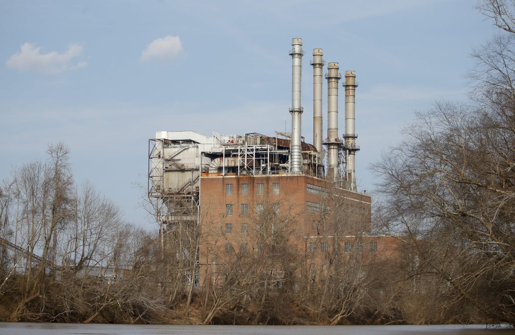 The Duke Energy coal-fired power plant is seen from the Dan River in Eden, North Carolina February 19, 2014. Photo by Chris Keane/Reuters
