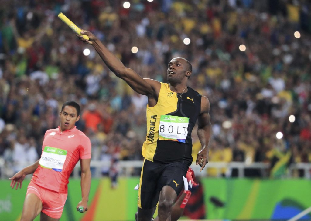 2016 Rio Olympics - Athletics - Final - Men's 4 x 100m Relay Final - Olympic Stadium - Rio de Janeiro, Brazil - 19/08/2016. Usain Bolt (JAM) of Jamaica celebrates victory. REUTERS/Dominic Ebenbichler FOR EDITORIAL USE ONLY. NOT FOR SALE FOR MARKETING OR ADVERTISING CAMPAIGNS. - RTX2M7B3