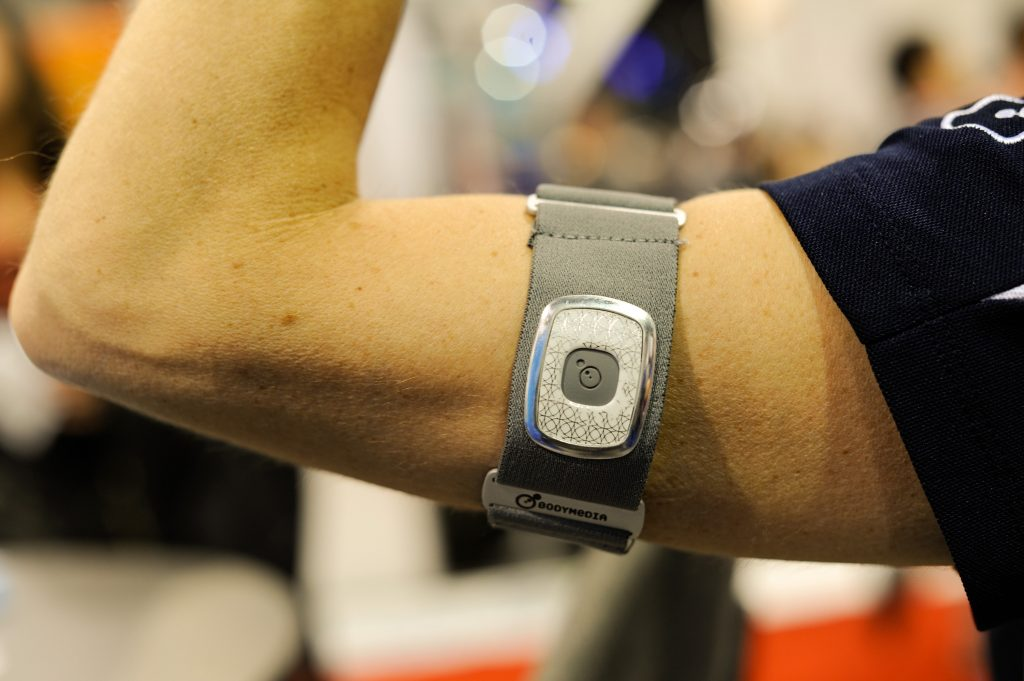 The BodyMedia Fitness Armband at the 2013 Consumer Electronics Show in Las Vegas. Photo by David Paul Morris/Bloomberg/via Getty Images