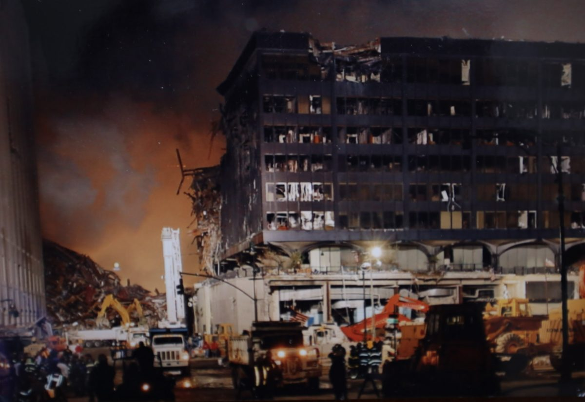 Photo taken with a disposable camera after 9/11 attacks. Courtesy of Ken George.